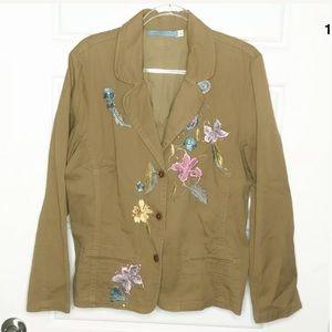 Johnny Was Embroidered jacket blazer
